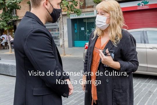 Visita de la consellera de Cultura, Natalia Garriga - MyAlbum