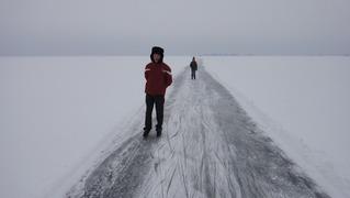 Foto's van Schaatsen uit Monnickendam - Schaatsen op de Gouwzee