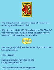 Foto's van Jubileum uit Monnickendam - 40 j. getrouwd