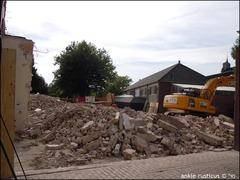 Foto's van Huizen en straten uit Sneek - Afbraak en Opbouw Nieuwe Centrum voor de Kunsten Oud kerkhof '10 -'11-'12 door Ankie Rusticus -
