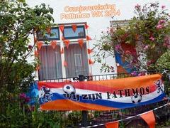 Oranjeversiering - Pathmos - juli 2014