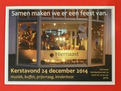 Kerstavond bij Hiernaast - Pathmos - 24 december 2014