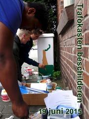 Foto's van Nieuws uit Enschede - Trafokasten beschilderen - Pathmos - 19 juni 2015