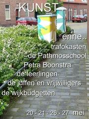 KUNST enne... trafokasten de Pathmosschool Petra Boonstra de leerlingen de juffen en vrijwilligers de wijkbudgetten