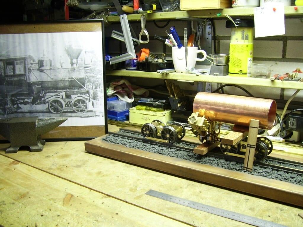 Heisler live steam locomotive