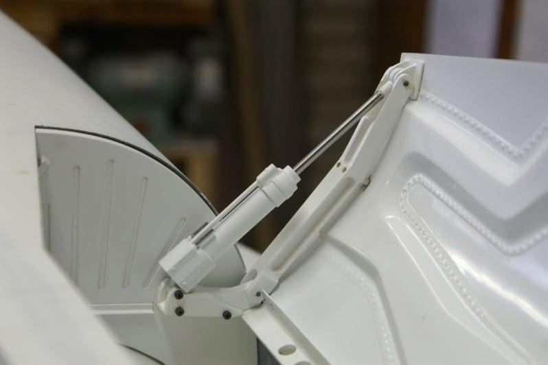 F16 Main door actuator test fit