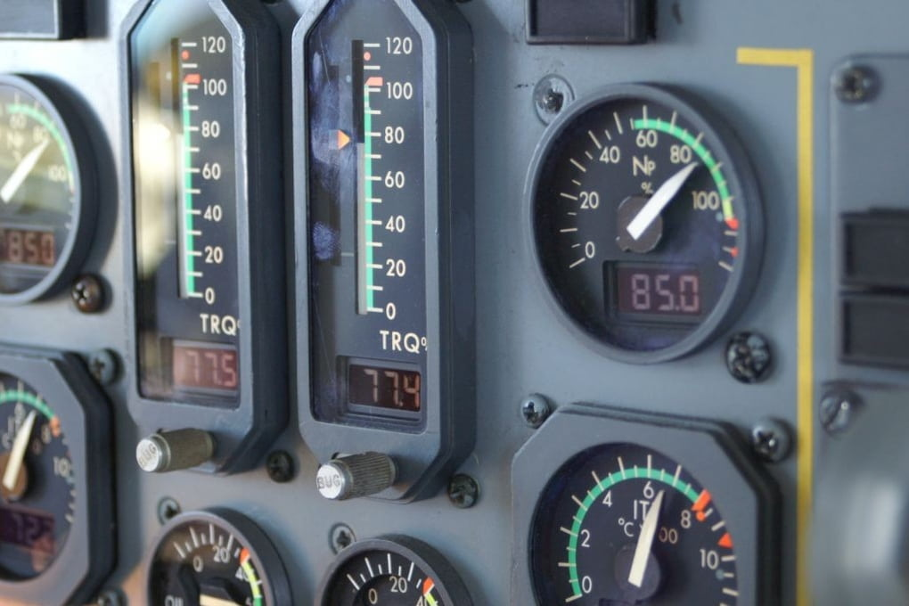 Engine instruments @ 14000ft
