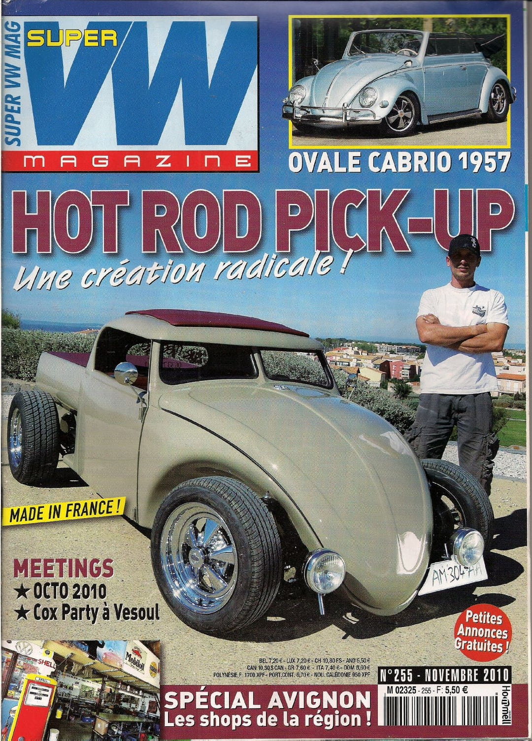 super vw magazine n 255 hot rod pick up ovale cabrio 1957 novembre 2010 ebay. Black Bedroom Furniture Sets. Home Design Ideas