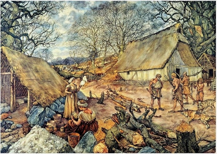 stenen tijdperk dorp