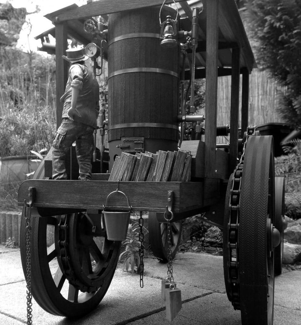 steam powered whim, Steam Whim Timber Engine