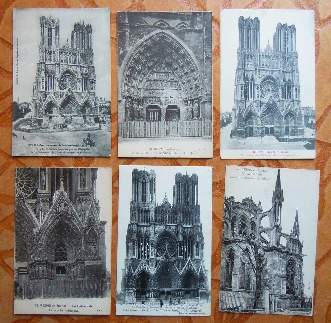 Cathedrale de Reims Guerre 14 18 la Grande Guerre 14 / 18