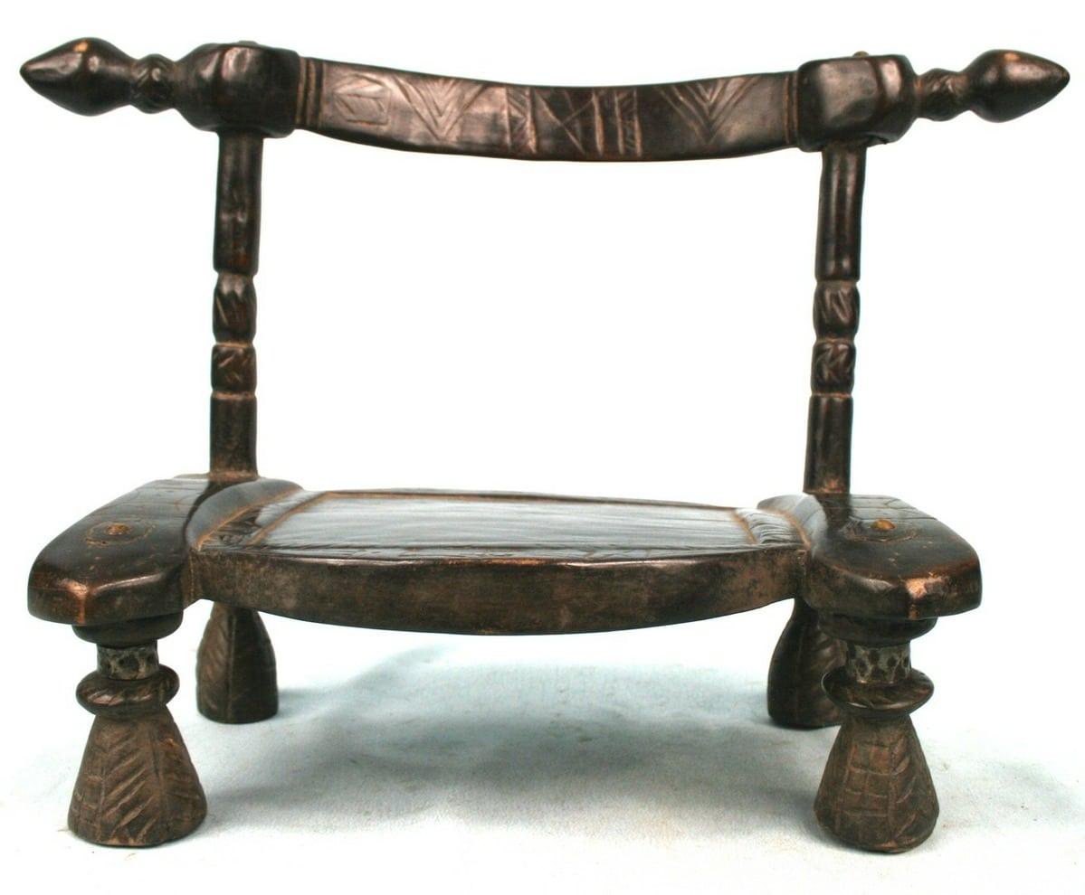 Art africain usuel chaise dan ancienne usuelle african chair 60 5 - Chaise industrielle ancienne ...