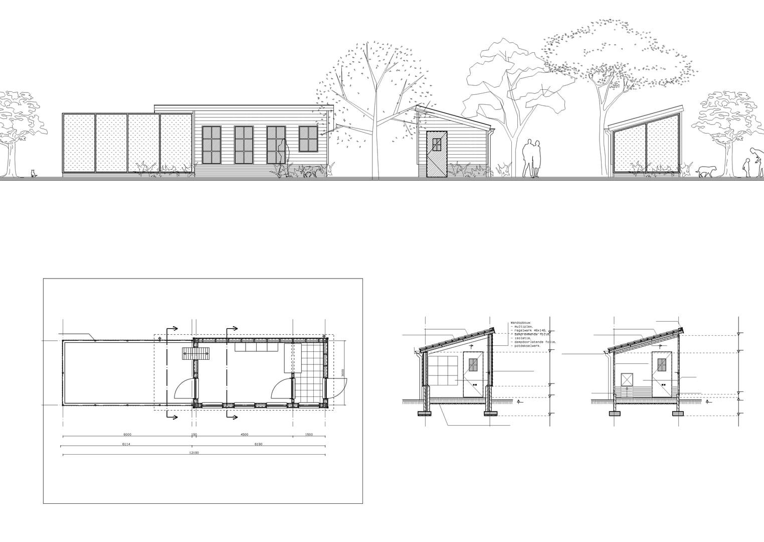 Poppenhuis maken gratis bouwtekening