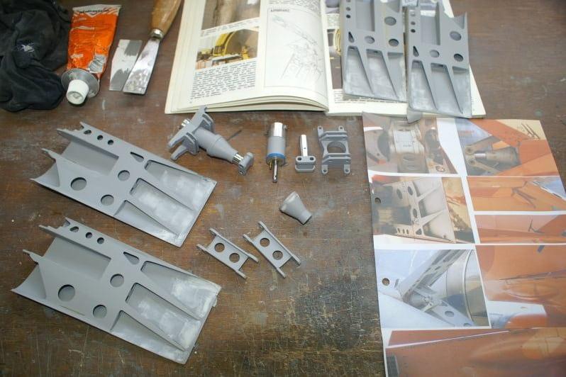 F16 Speedbrake parts