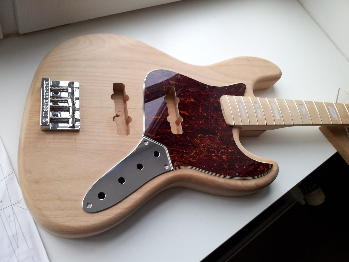 Jazz bass build page 2 telecaster guitar forum for Jazz bass pickguard template