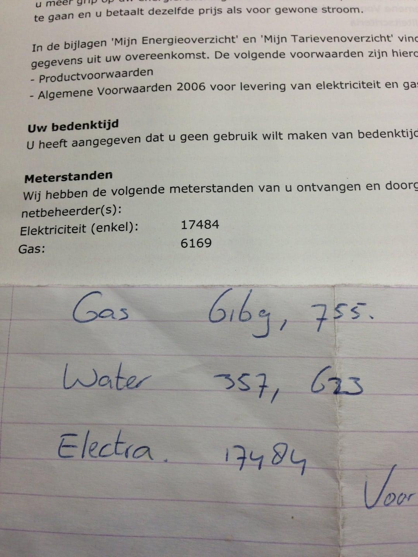 Hoge gasrekening oorzaak