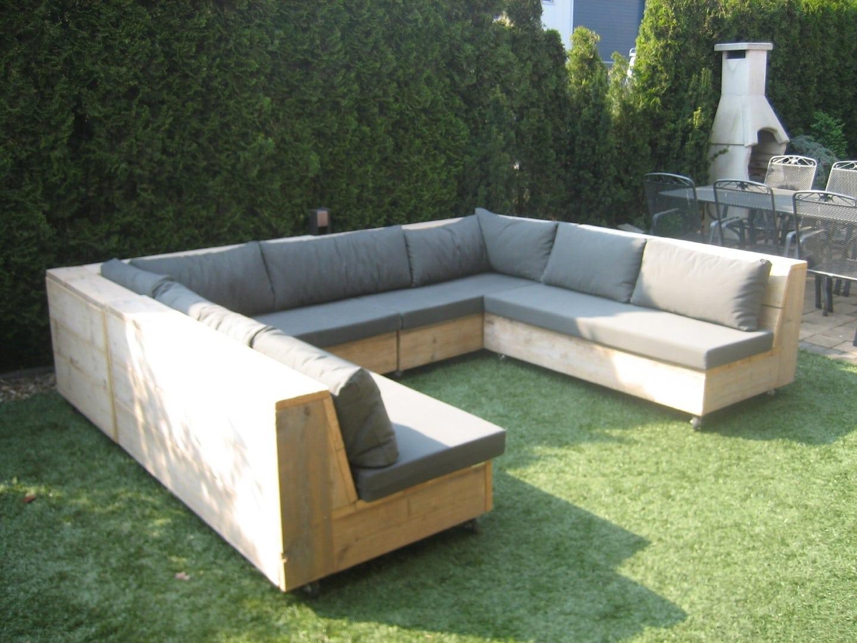 Steigerhouten winkelinrichting tafel meubels lounge hoek for Steigerhout loungeset zelf maken