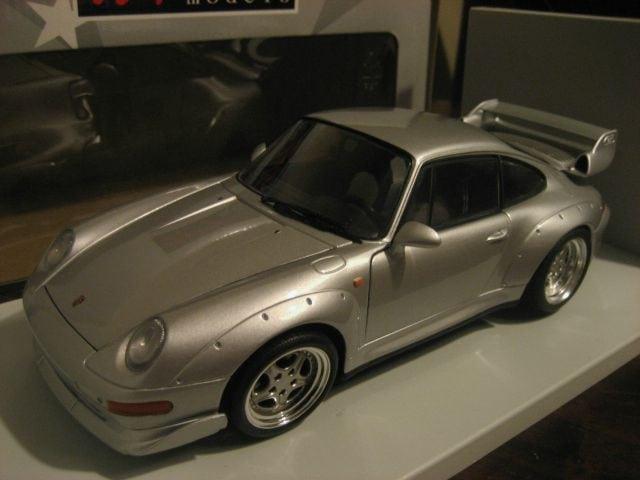 1997 porsche 993 911 gt2 silver boxed ut models 180065000 scale 1 18 ebay. Black Bedroom Furniture Sets. Home Design Ideas