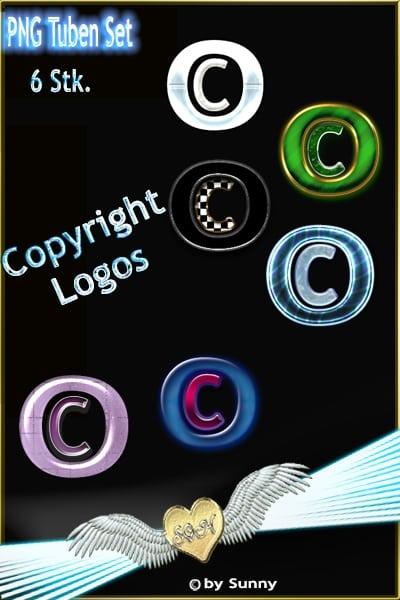 Copyright Logos PNG Set