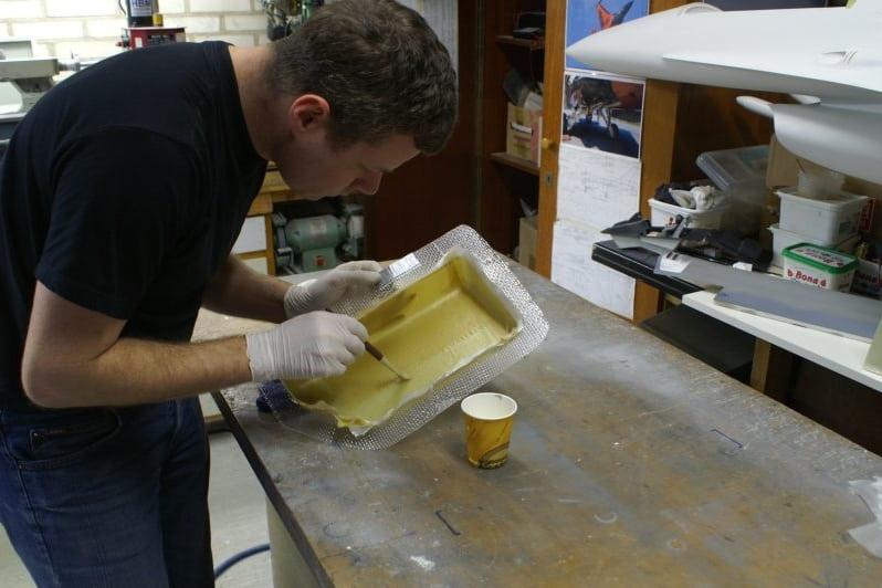 F16 making kevlar fuel tanks