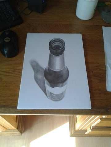 fles tekening 3d