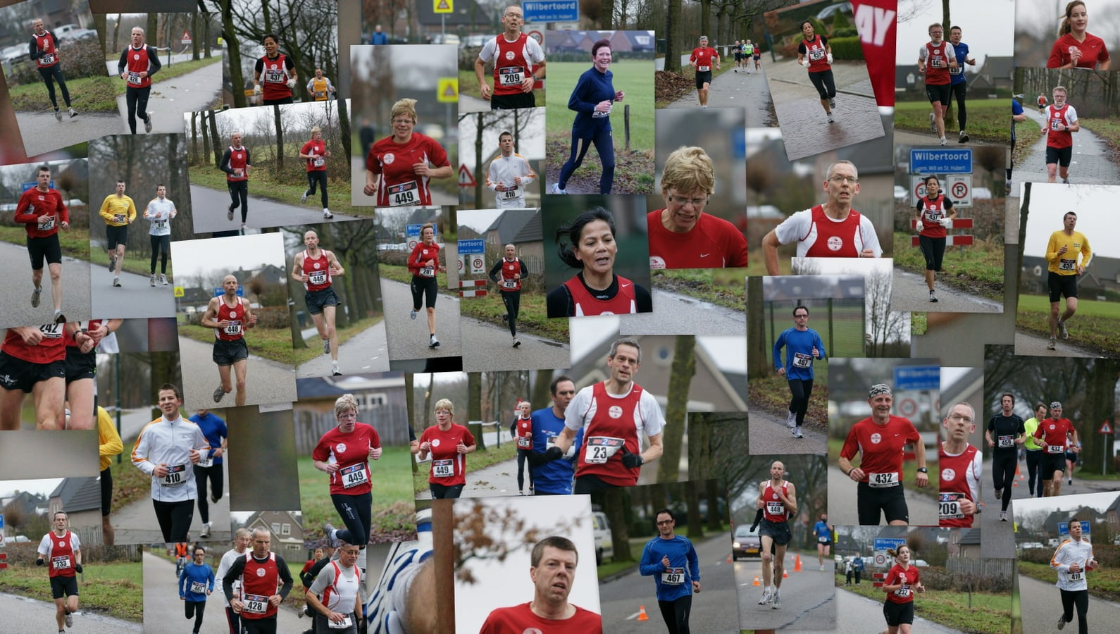 Colage Winterloop door Erik Willems