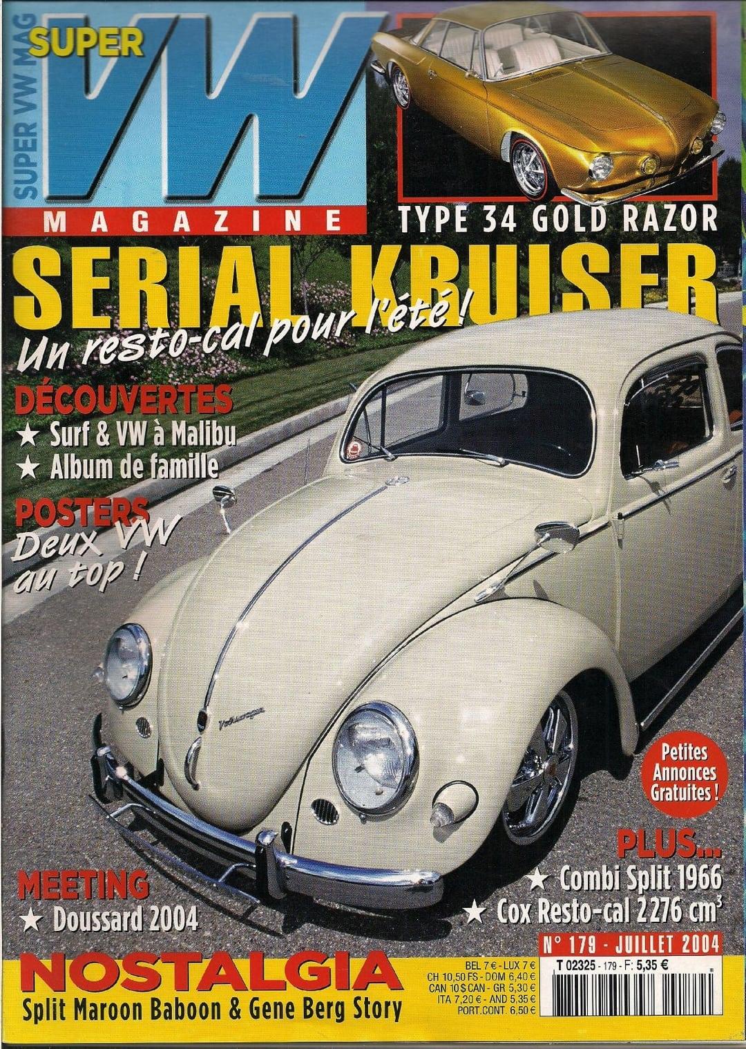 super vw magazine n 179 serial kruiser juillet 2004 ebay. Black Bedroom Furniture Sets. Home Design Ideas