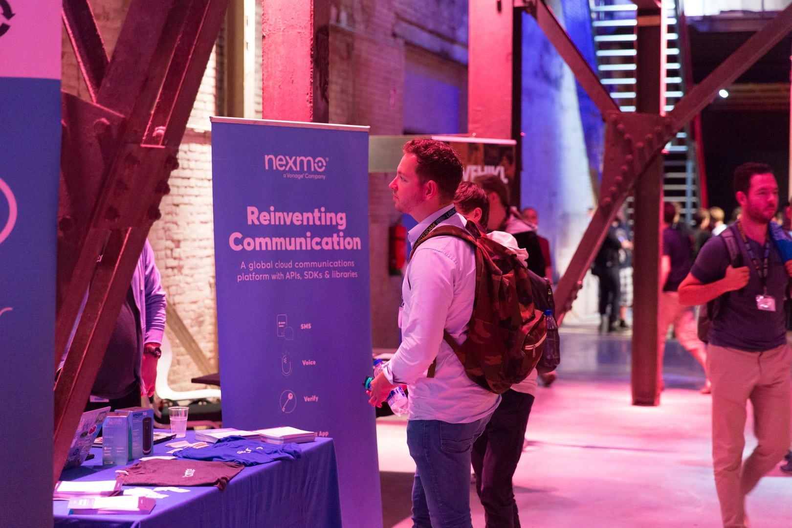 Nexmo Sponsor Booth - Laracon EU 2016