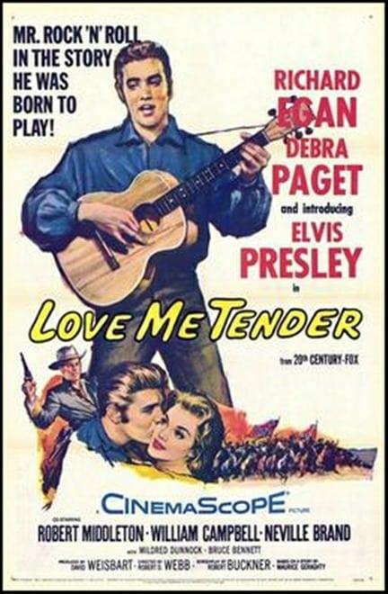 Filmposter: Love me Tender