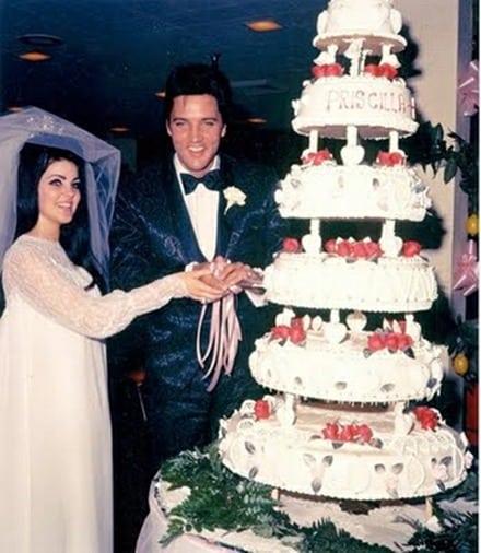 Huwelijksdag Elvis & Priscilla Presley