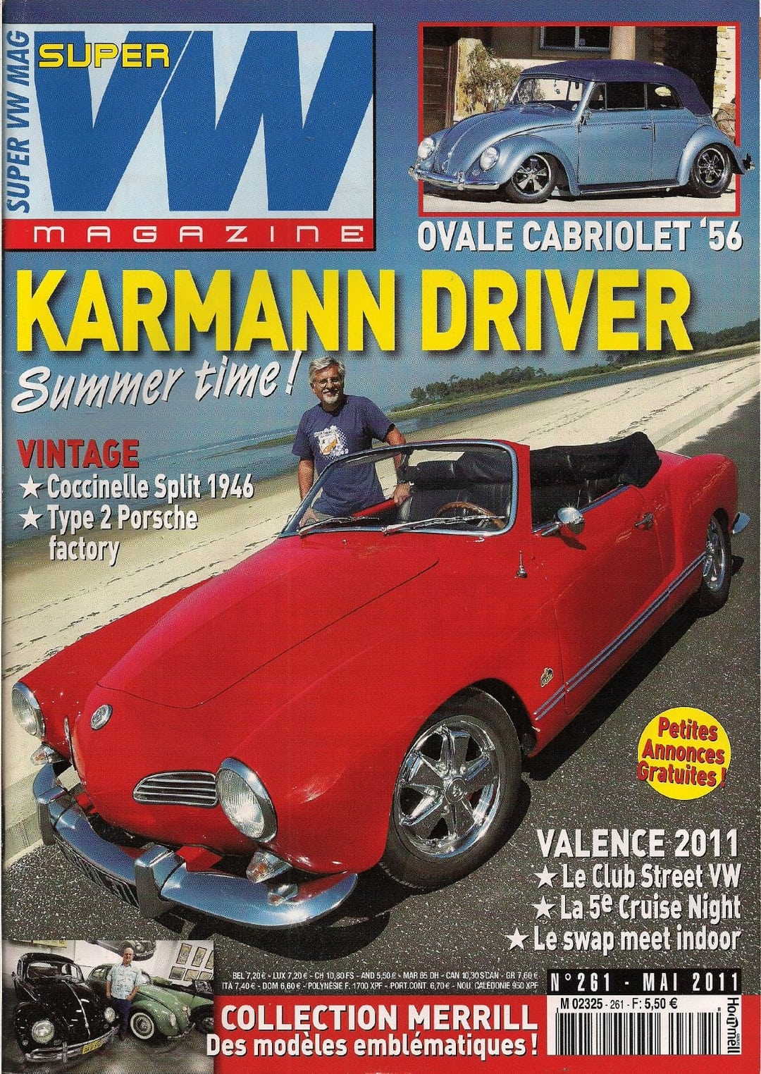 super vw magazine n 261 karmann driver ovale cabriolet 39 56 mai 2011 ebay. Black Bedroom Furniture Sets. Home Design Ideas