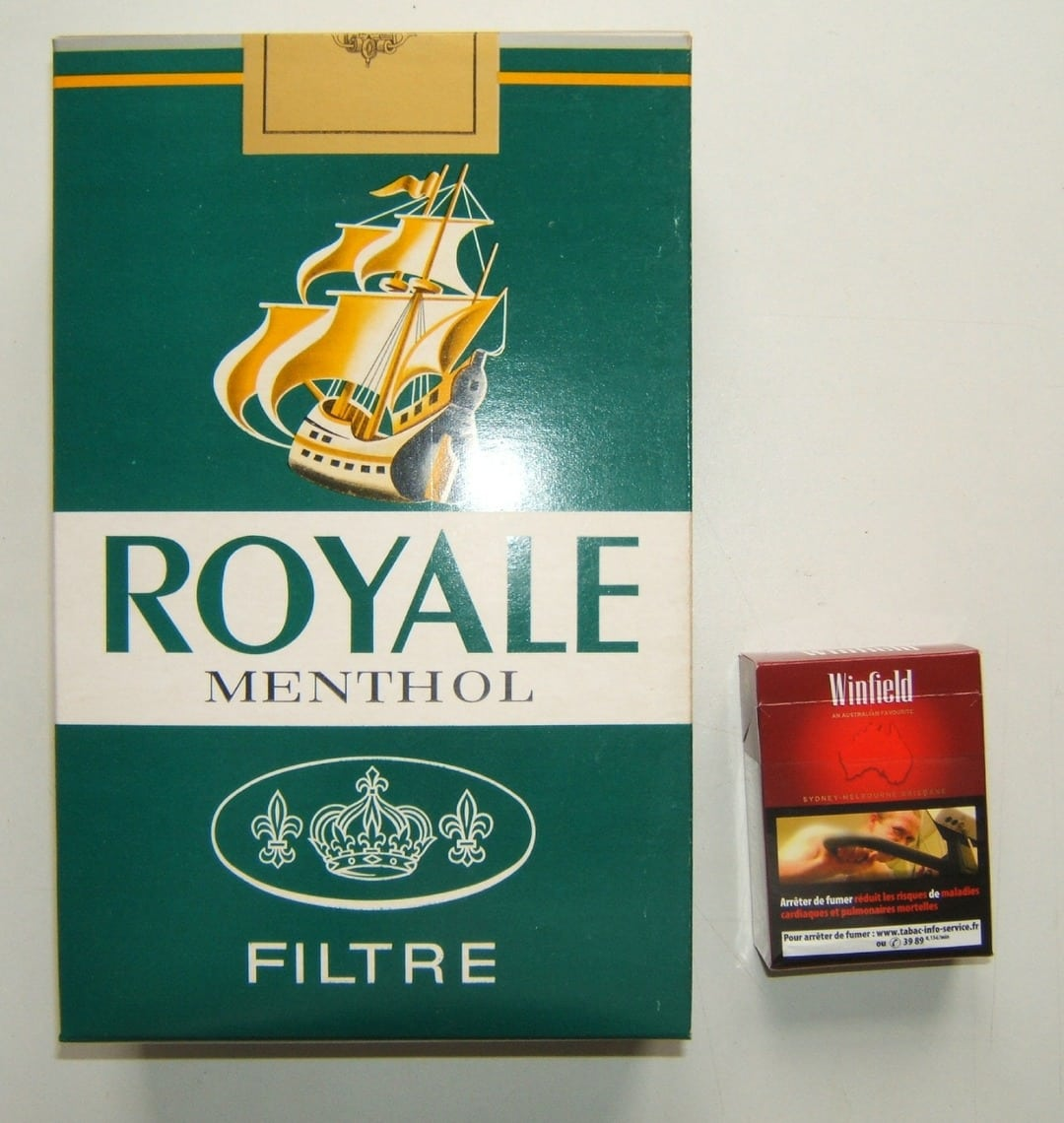 gros paquet de cigarettes factice publicite bureau de tabac royal menthol ebay. Black Bedroom Furniture Sets. Home Design Ideas