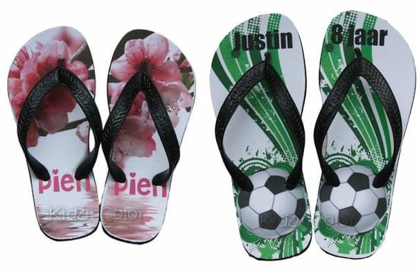 slippers met naam