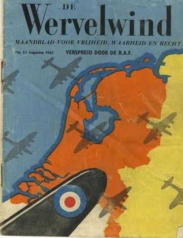 De Wervelwind 13 uit de tweede wereldoorlog afgeworpen Augustus 1943.