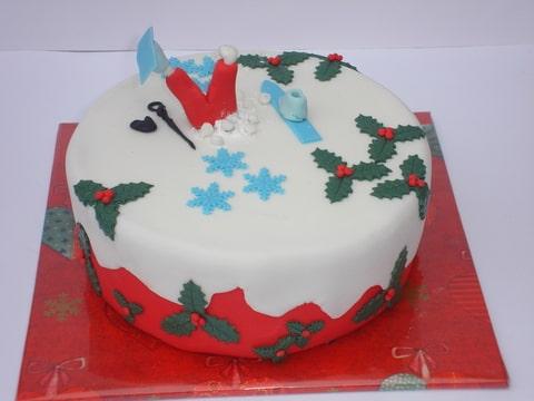 wintersport taart een kerstig wintersport taartje (Pagina 1)   Taarten Parade  wintersport taart
