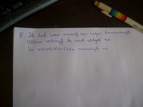 schrijven met blokletters