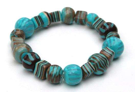 bracelet turquoise marron