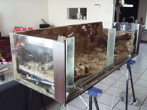 Aquarium glas vervangen