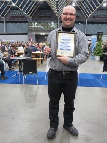 Albert tijdens de Collectors Award uitreiking 2014