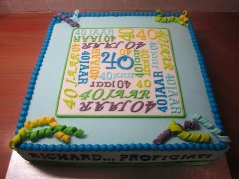 taart 40 jaar man