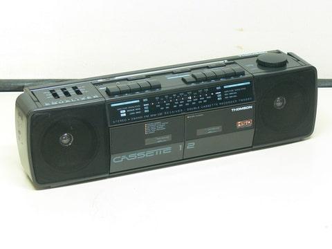 boombox vintage thomson tm 5880 poste radio double cassette. Black Bedroom Furniture Sets. Home Design Ideas