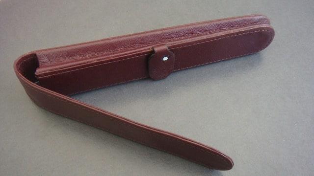 etui 1 stylo montblanc cuir bordeaux ebay