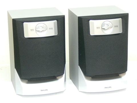 philips fw c220 enceintes 2 voix pour mini chaine hifi. Black Bedroom Furniture Sets. Home Design Ideas