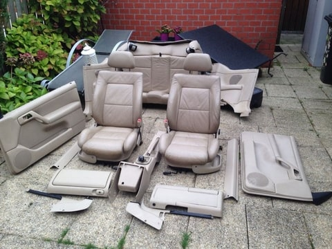 Te koop golf 4 cabrio creme leder interieur compleet for Lederen interieur golf 4