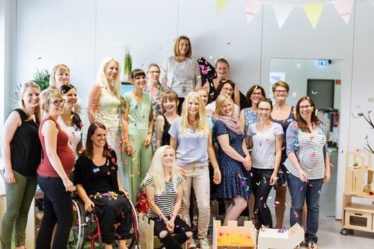 blogger event mit konfetti regen