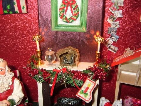 Kerst kijkkastje - Gordijnen meid ...