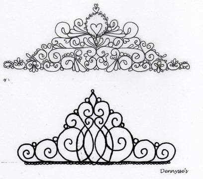 tiara template for cake topper yummy stuff pinterest