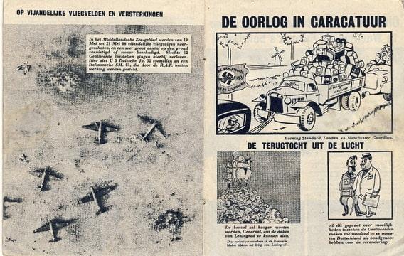 De Wervelwind uit de tweede wereldoorlog karikatuur spotprent wo2