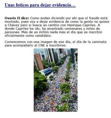 Campaña de CAPRILES 2012