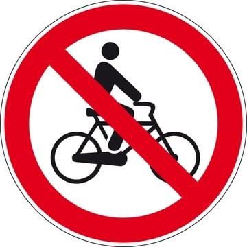fietsen  verboden